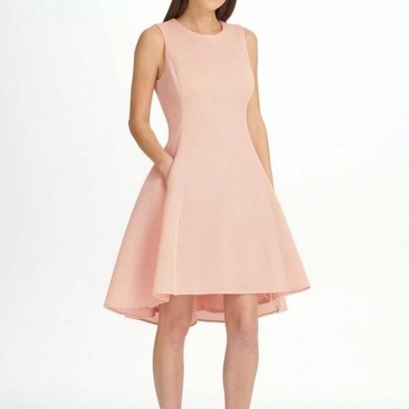 Dkny Dresses & Skirts - DKNY Fit & Flare Mesh Scuba Dress NWT w/pockets!!
